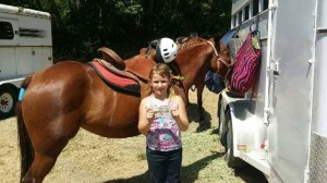 Eva after her first barrel race!
